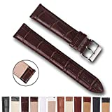 Top Grain Leather Watch Band, Quick Release Watch Bands, Replacement Watch Bands for Men and Women, Easy Swap, Change in Seconds [20mm Deep Brown]