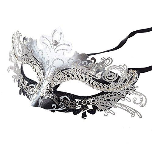 Coxeer Laser Masquerade Halloween Silver