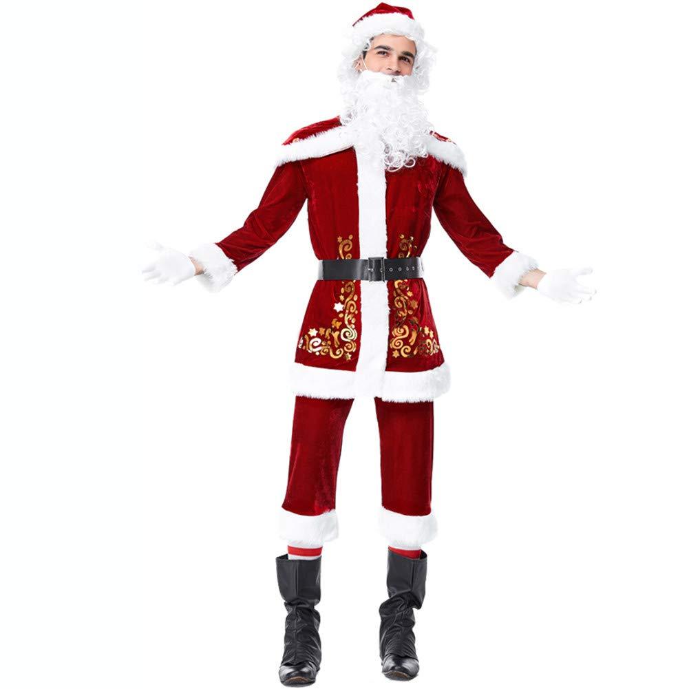 M05 kakafashion Christmas Costume Men's Wear (165185cm) Women's Wear (155175cm) Adult Clothes Cosplay Stage Performance Costume (M01)
