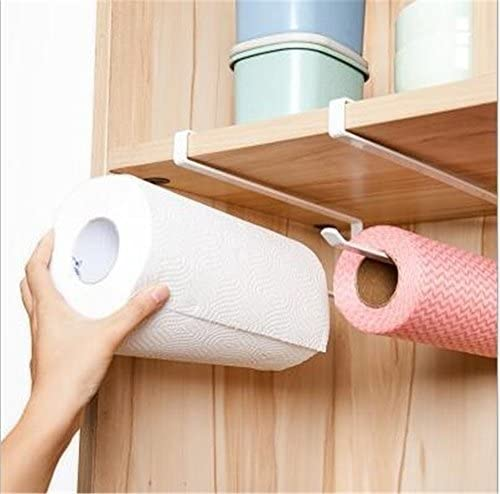 blanco Cocina del rollo de papel sostenedor de la toalla de gabinete en rack de almacenamiento servilletas del sostenedor del estante