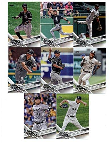 2017 Topps Chicago White Sox Complete Master Team Set of 29 Cards (Series 1, 2, Update) with Chris Sale(#9), Carson Fulmer(#33), Carlos Rodon(#59), Adam Eaton(#64), Brett Lawrie(#74), Austin Jackson(#77), Jose (White Nm Master)
