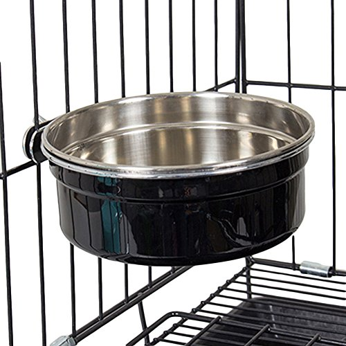 Topbeu-Durable-Stainless-Steel-Hanging-Pet-Cage-Feeding-Watering-Bowl