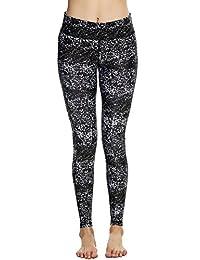 Ekouaer Women's Print Yoga Running Leggings Workout Tights Skinny Pencil Pants
