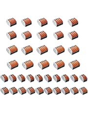 40 Pcs Conductor Compact Wire Connectors, Lever Nut Connector Assortment Conductors Compact Splicing Connectors 2 Port 3 Port 4 Port 5 Port