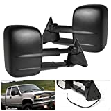 89 chevy 1500 tow mirrors - Rxmotor 88-98 Chevy C/K 1500 2500 3500 Telescope Extendable Power Tow Mirrors Black