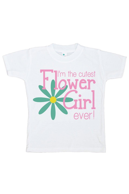 Custom Party Shop Girl's Cutest Flower Girl Wedding T-shirt Medium
