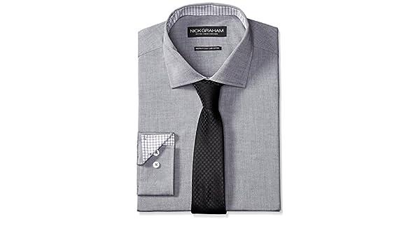 Nick Graham Camisa de Vestir de Popelina de algodón para Hombre ...
