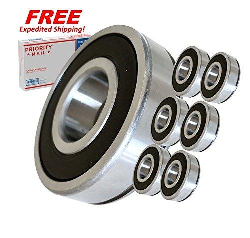 (6 Pack) Hustler 783555, Jacobsen 552184 Spindle Bearings - High Temp Grease - OEM UPGRADE - HD ()