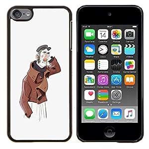 """Be-Star Único Patrón Plástico Duro Fundas Cover Cubre Hard Case Cover Para iPod Touch 6 ( Hombre amistoso Retrato artístico Sombrero Pintura"""" )"""