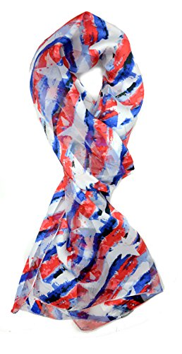 USA Flag Scarf, Patriotic, Red, White and Blue American Flag Scarf abstract flag