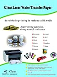 Waterslide Decal Paper Laser Clear A3 Size