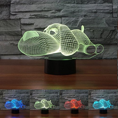 3D Snooze Dog lamp Night Light Touch Table Desk Optical Illusion Lamps 7 Color Changing Lights Home Decoration Xmas Birthday Gift