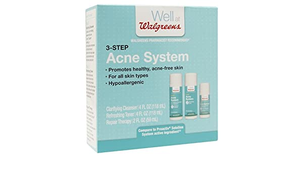 Amazon com: 3 Step Acne Kit 1 ea by Walgreens(Pack of 1): Beauty