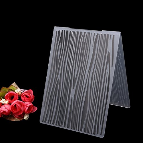 Bottone Embossing Folder Plastic Template Mold Create Raised Embossed Designs For Card Making DIY Scrapbooking Photo Album Card Paper Craft Decoration,Wood Grain