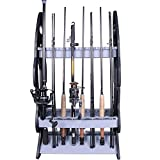 Cheap Croch 16 Fishing Rod Holder Storage Rod Rack Fishing Pole Stand Garage Organizer Holds Any Type of Rod or Hiking Sticks Keep It Steady