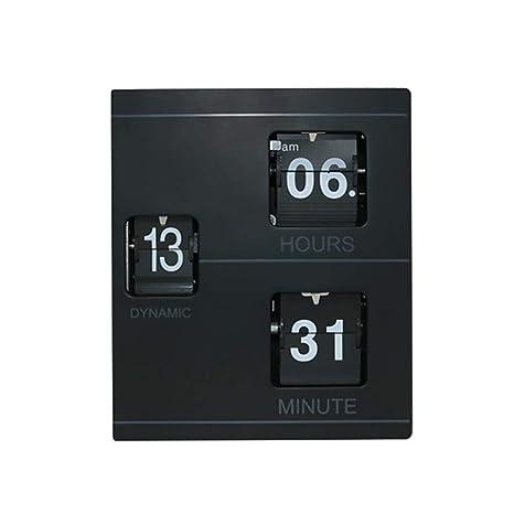 Arvin87Lyly Flip Retro de Números, Reloj de Cuarzo Vintage, Relojes de Sobremesa Modernos,