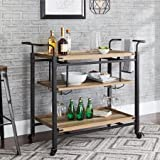 Product review for Better Homes and Gardens Crossmill Bar Cart, Weathered Finish