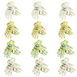 JORESTECH Garden Palm Dipped Nitrile Coated Seamless Knit Work Gloves PPE Hand Protection (Large) Assorted Pack of 12