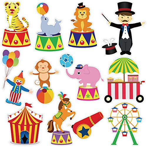Circus Cutouts Decorations (Carnival Cutouts Circus Theme Baby Shower Birthday Party Cut-Outs 24)