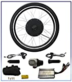 36V 500W Electric Bicycle Motor Conversion Kit 26'' Ebike Cycling Rear Wheel Hub