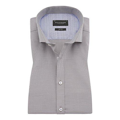 Bruun & Stengade Ede Micro Woven Houndstooth Shirt - Houndstooth Woven Shirt