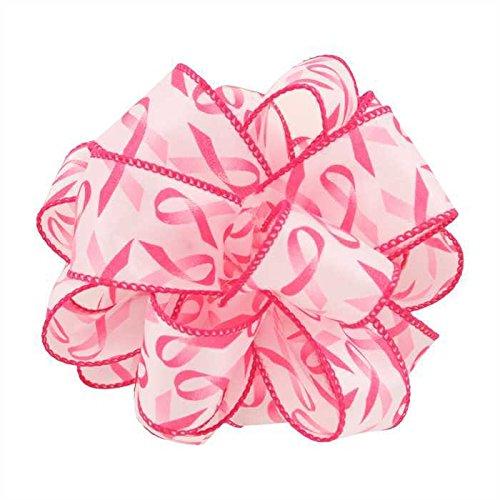 Pink Awareness Ribbon (1-1/2 Wired Pink Awareness Ribbon x 25)