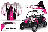 AMR Racing UTV Graphics kit Sticker Decal Compatible with Polaris RZR 170 Youth All Years - Carbon X Pink