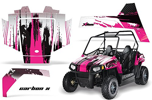 Decal Graphics Kit (AMRRACING Polaris RZR 170 Youth All Years Full Custom UTV Graphics Decal Kit - Carbon X Pink)