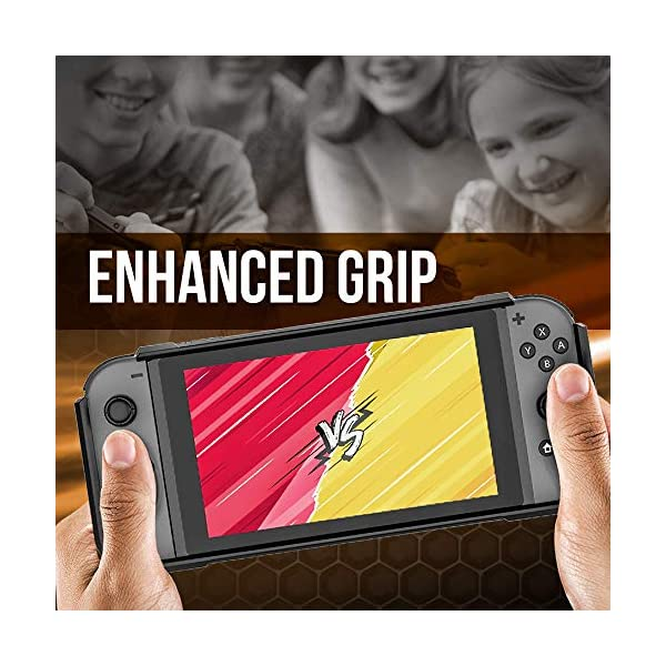 RevoGuard Slim Heavy Duty Switch Case [Stores 5 Games] Compact Multi Angle Holder Play Stand for Nintendo Switch 4