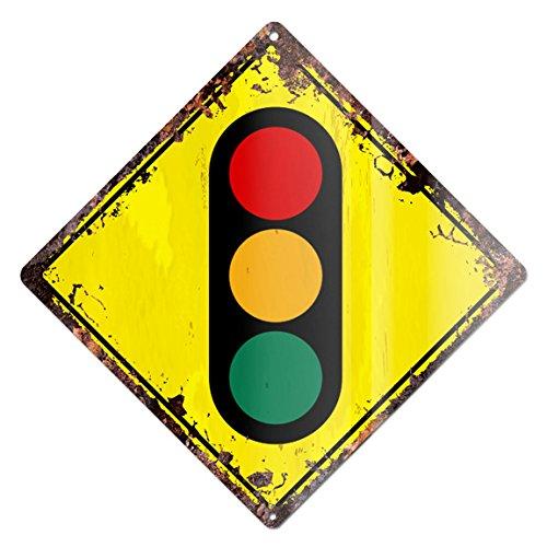 TRAFFIC SIGNALS Traffic lights Rustic Diamond Sign Chic Vintage Retro 12