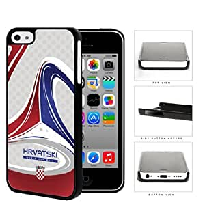 Croatia Brazuca Ball Print World Cup 2014 Soccer MLS Sports Red and Blue NUE Designs Hard Snap on Cell Phone Case Cover iPhone 5c