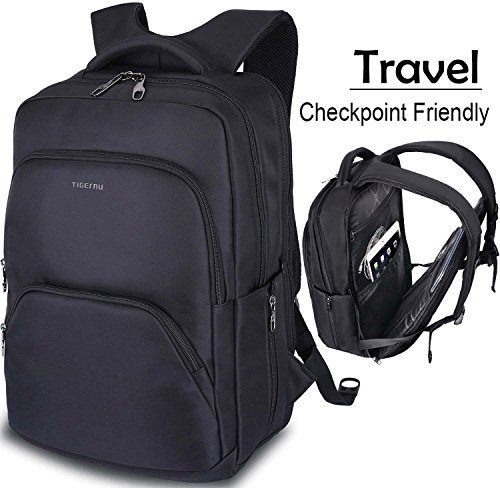 TSA Friendly while passing through airport Travel Laptop Backpack, TSA Friendly Durable Extra Large Backpacks for Men and Women with USB Charging Port, Big Water Resistant College School Bookbag Fit 17 Inch Laptops & Notebook - Black & Red. by Vancropak. $ $ 40 99 Prime.
