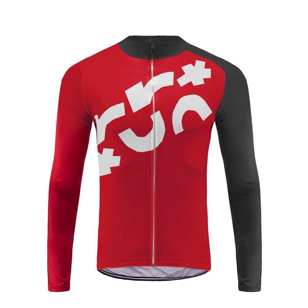 Uglyfrog Funktions Winter Fahrrad Trikot Element Jersey Winter Warm Vlies Radsport-Shirt Long Sleeve Herren,Radtrikot mit Lange Ärmel,Fahrradhemd Langarm Jacket