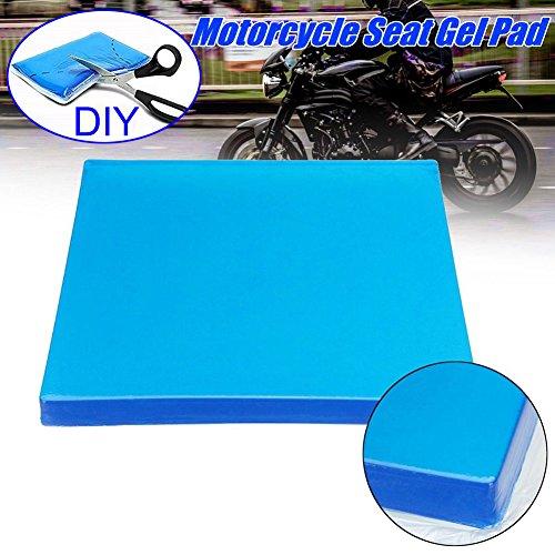 Domeilleur - Almohadillas de Gel para Asiento de Motocicleta, Accesorios de amortiguación, cojín para Asiento de Motocicleta, 25 * 25 * 1cm
