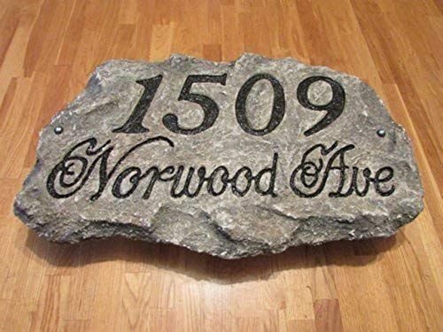 artificial rock style 22 x 12 x 2 inches Address Plaque