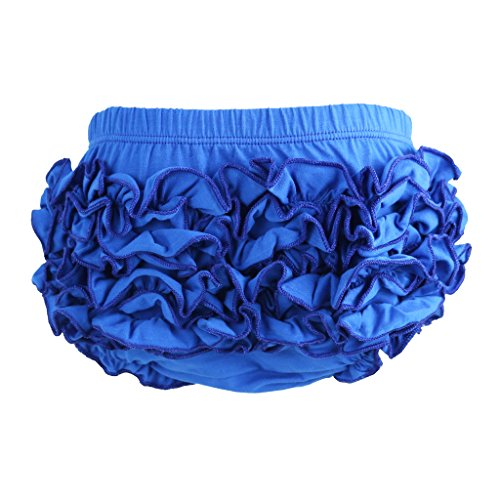 Blue Bloomers - Wennikids Baby Girl's Cotton Shorts and Diaper Cover Bloomers Large Blue