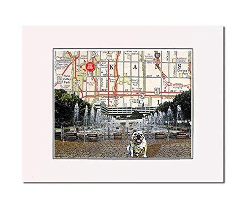 Amazon.com: Kansas City, Crown Center Fountain, art print. Enhance ...