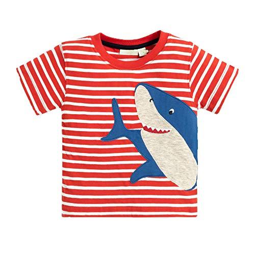 - KIDSALON Little Boys' Cotton Crewneck Long Sleeve Cartoon T-Shirt (2T, animalspcs-03)