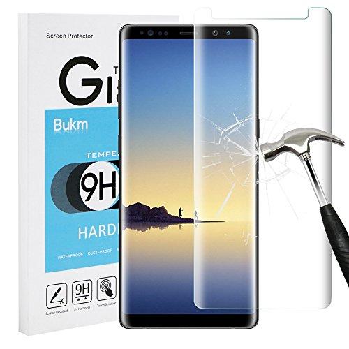 Schutzfolie für Samsung Galaxy Note 8, Bukm Galaxy Note 8 Panzerglas Glas Displayschutzfolie Schutzglas Displayschutz Screen Protector für Samsung Galaxy Note 8 [0.25mm 2.5D 9H Härtegrad]