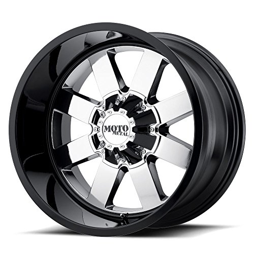 (MOTO METAL MO962 PVD Center Gloss Black Lip Wheel with Chrome and Chromium (hexavalent compounds) (20 x 12. inches /8 x 125 mm, -44 mm Offset) )