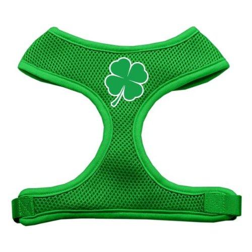 (Mirage Pet Products Shamrock Screen Print Soft Mesh Dog Harnesses, Medium, Emerald Green)