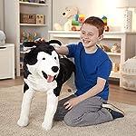 Melissa & Doug Giant Siberian Husky - Lifelike Stuffed Animal Dog (Over 2 Feet Tall, Great Gift for Girls and Boys - Best for 3, 4, 5, and 6 Year Olds) 7