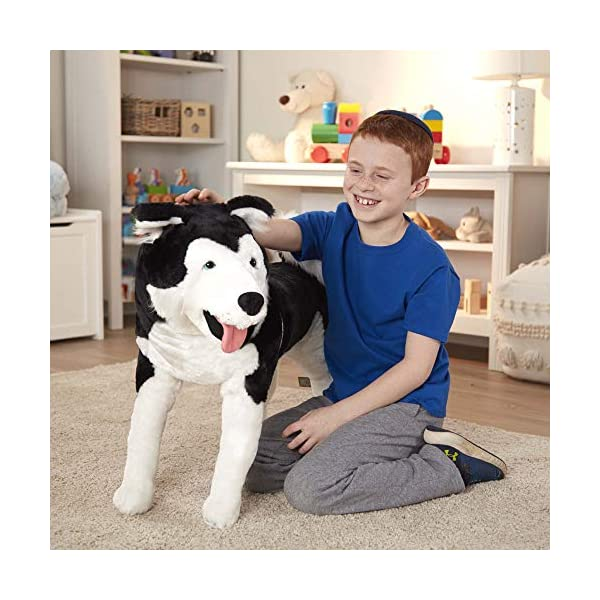 Melissa & Doug Giant Siberian Husky - Lifelike Stuffed Animal Dog (Over 2 Feet Tall, Great Gift for Girls and Boys - Best for 3, 4, 5, and 6 Year Olds) 2