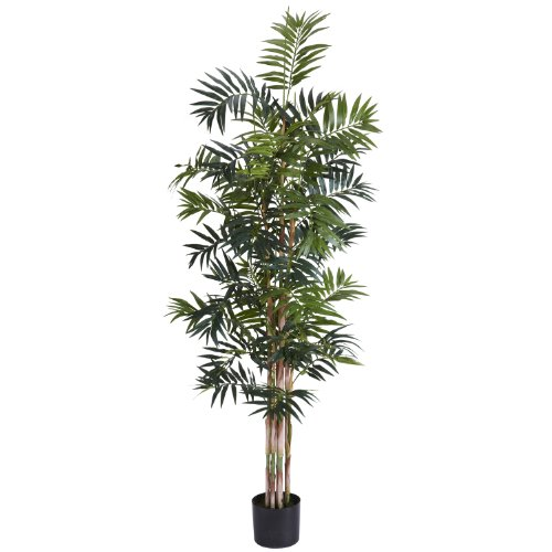 Nearly Natural 5320 Bamboo Palm Silk Tree, 6-Feet, Green