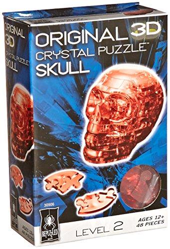 Original 3D Crystal Puzzle - Skull Red