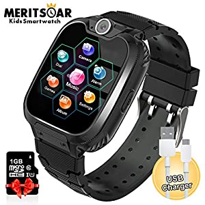Kids Games Watchs Phone – 1.54 inch Touch Screen Game Smart Watch with MP3 Music Player Call SOS Calculator Alarm Clock…