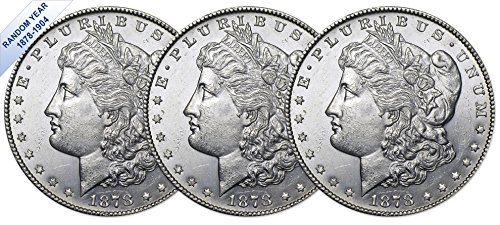 (1878-1904) Morgan Silver Dollar (BU) Three Coins Brilliant Uncirculated