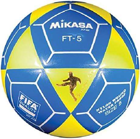 Mikasa FT5 Meta Maestro Pelota de fútbol, Color Amarillo/Azul ...