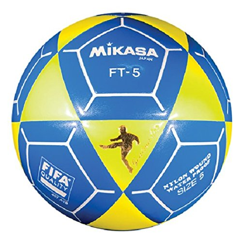 (Mikasa FT5 Goal Master Soccer Ball, Yellow/Blue, Size 5)
