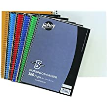 Hilroy Coil 5-subject Notebook, Wide Ruled, 10.5 X 8 Inches, 360 Pages, Assorted Color Covers (05693)